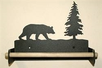 Paper Towel Holder With Wood Bar- Bear Design