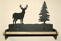 Paper Towel Holder With Wood Bar- Deer Design