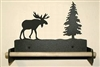 Paper Towel Holder With Wood Bar- Moose Design