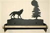 Paper Towel Holder With Wood Bar- Wolf Design