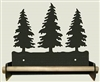 Paper Towel Holder With Wood Bar- Pine Tree Design