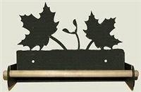 Paper Towel Holder With Wood Bar- Maple Leaf Design