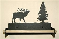 Paper Towel Holder With Wood Bar- Elk Design