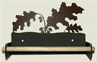 Paper Towel Holder With Wood Bar- Oak Leaf Design
