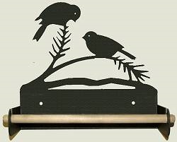 Paper Towel Holder With Wood Bar- Chickadee Design