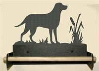 Paper Towel Holder With Wood Bar- Lab Retriever Design