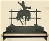 Paper Towel Holder With Wood Bar- Bucking Bronco Design