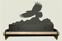 Paper Towel Holder With Wood Bar- Eagle Design