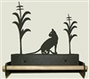 Paper Towel Holder With Wood Bar- House Cat Design