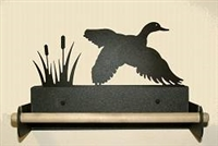 Paper Towel Holder With Wood Bar- Flying Duck Design