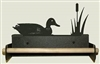 Paper Towel Holder With Wood Bar- Duck Design