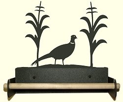 Paper Towel Holder With Wood Bar- Pheasant Design