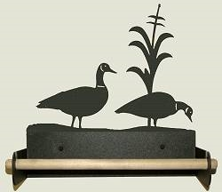 Paper Towel Holder With Wood Bar- Geese Design