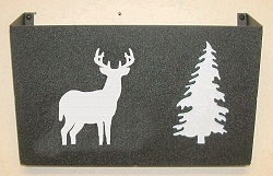 Wall Mount Magazine Rack - Deer Design