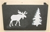 Wall Mount Magazine Rack - Moose Design