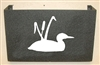 Wall Mount Magazine Rack - Loon with Cattails Design
