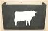 Wall Mount Magazine Rack - Cow Design