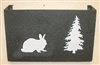 Wall Mount Magazine Rack - Rabbit Design