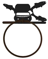 Towel Ring - Fly-Rod Fish Design