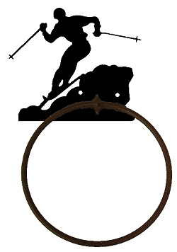 Towel Ring - Skier Design