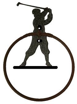 Towel Ring - Golfer Design