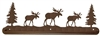 Scenery Style Towel Bar- Moose Design