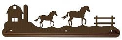 Scenery Style Towel Bar- Horse and Barn Design