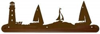 Scenery Style Towel Bar- Lighthouse/Sailboat Design
