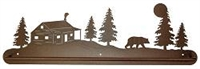Scenery Style Towel Bar- Bear and Cabin Design