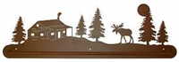 Scenery Style Towel Bar- Moose and Cabin Design