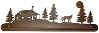 Scenery Style Towel Bar- Wolf and Cabin Design