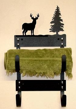 Towel Rack- Deer Design