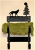 Towel Rack- Wolf Design