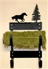 Towel Rack- Galloping Horse Design
