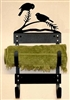Towel Rack- Chickadee Design