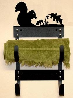 Towel Rack- Squirrel Design
