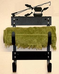 Towel Rack- Fly-Rod Fish Design