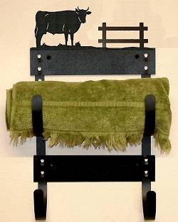 Towel Holder Rack- Bull Design
