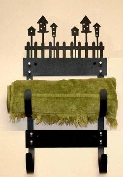 Towel Rack- Birdhouse Design