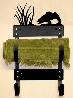 Towel Rack- Walleye Design