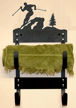 Towel Rack- Skier Design