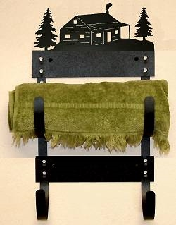 Towel Rack- Cabin Design