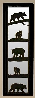 Accent Mirror Wall Art- Bear Design