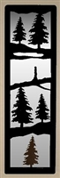 Accent Mirror Wall Art- Pine Tree Design