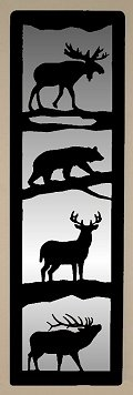Accent Mirror Wall Art- Moose, Bear, Deer, Elk Design