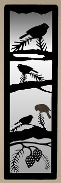 Accent Mirror Wall Art- Chickadee Design