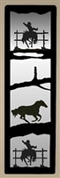 Accent Mirror Wall Art- Bucking Bronco Design