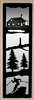 Accent Mirror Wall Art- Skier and Cabin Design