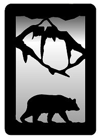 Small Accent Mirror Wall Art- Bear Design