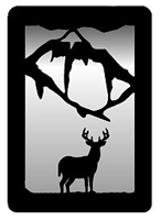 Small Accent Mirror Wall Art- Deer Design
